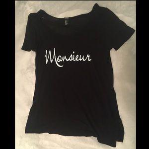 """Forever 21 """"Monsieur"""" Graphic Shirt"""